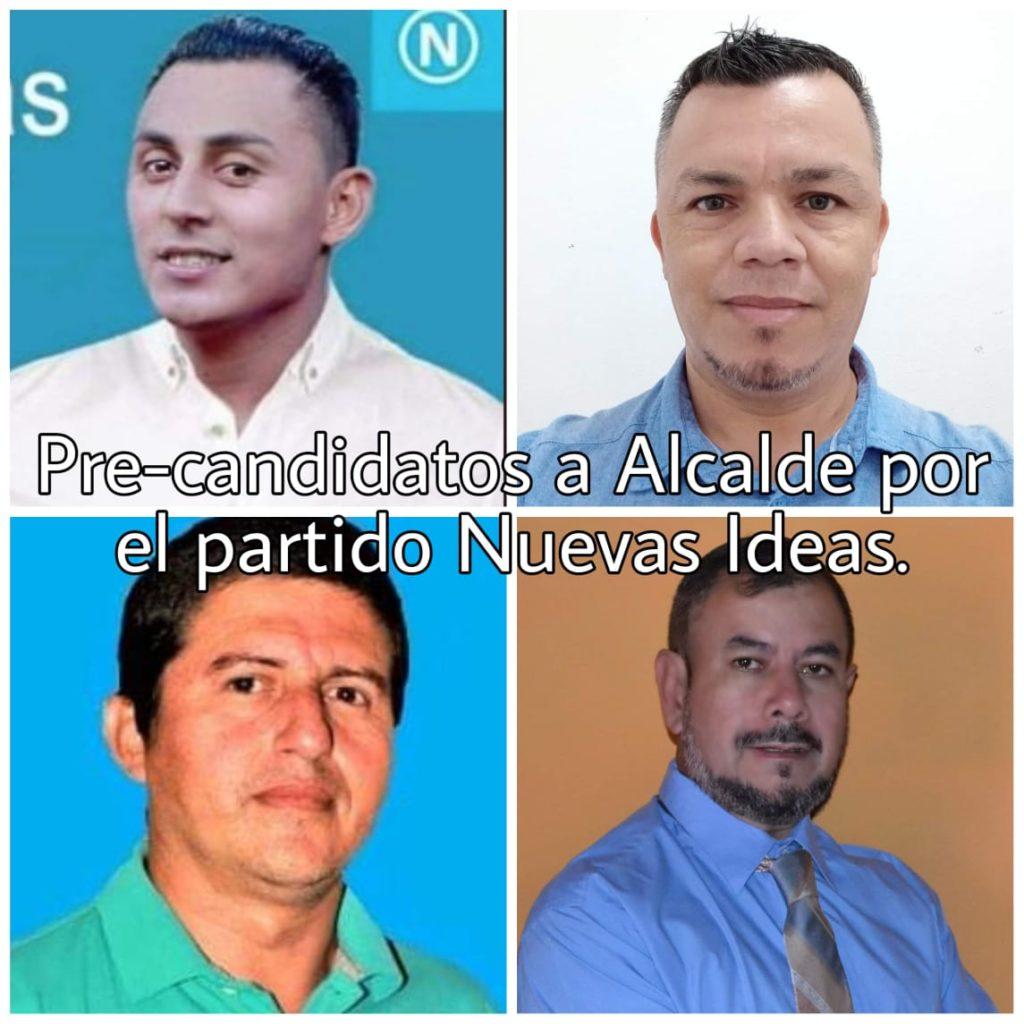 Pre-candidatos a Alcalde por el partido Nuevas Ideas